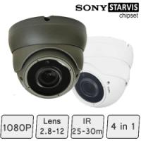 Advance HD CCTV Dome Camera (SONY Starvis, Vari-focal Lens, 25-30m IR)
