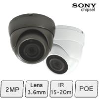 HD IP Night Vision Dome Camera (2MP, IR 15m, POE)