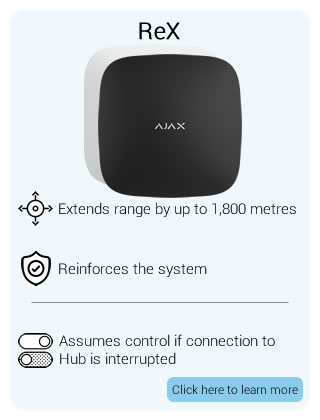 Ajax Wireless Alarm ReX (Range Extender)