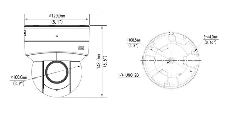 Dimensions of IPC6415SR-X5UPW-VG