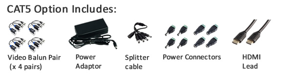 CAT5 video baluns for this kit
