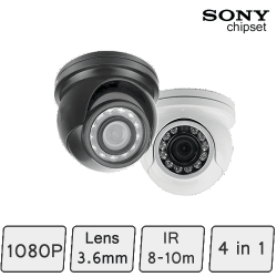 Mini Golf-ball Dome Camera (4-In-1, IR 8m) | Mini CCTV