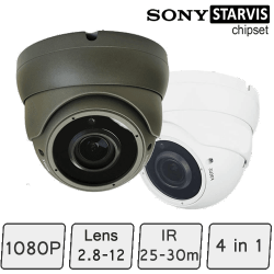 Advance HD CCTV Dome Camera (SONY Starvis, Vari-focal Lens, 25-30m IR)