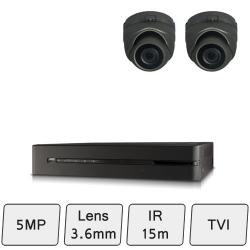 Discreet Dome Camera Kit   HD 5MP CCTV Kit