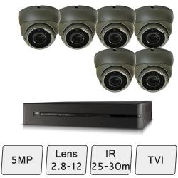 Eyeball Dome Camera Kit | 5MP HD CCTV Kit