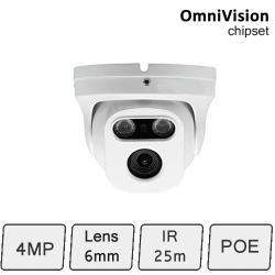 HD-IP 4MP Eyeball Dome Camera (4MP, IR 25m, POE)