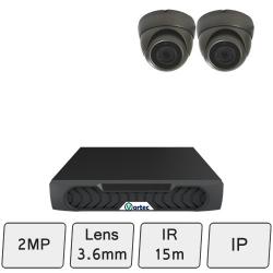 Discreet Dome Camera Kit | 2MP IP Camera Kit