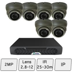 Eyeball Dome Camera Kit   IP Camera System