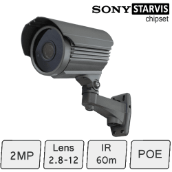 Long Range IP Camera (SONY Starvis, 2MP, IR 60m, POE, SONY Starvis) | IP Camera