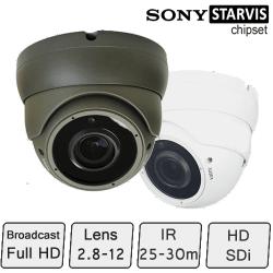 HD Eyeball Dome Camera (Full HD, SONY Starvis, 2.8-12mm Lens)