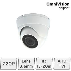 Mini Advanced Eyeball Dome Camera (4-In-1, fixed-focal, IR 15m) | CCTV Dome Camera