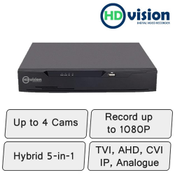 HD-Vision DVR | 4 Channel Hybrid DVR Recorder