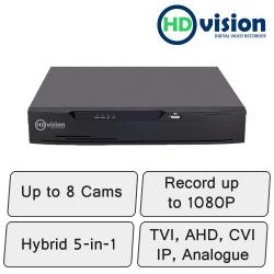 HD-Vision DVR | 8 Channel Hybrid DVR Recorder