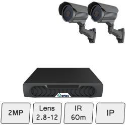 Long-Range Security Camera System   2MP IP CCTV Kit