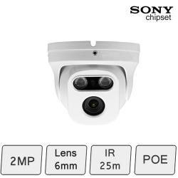 HD-IP 2MP Eyeball Dome Camera (2MP, IR 25m, POE)