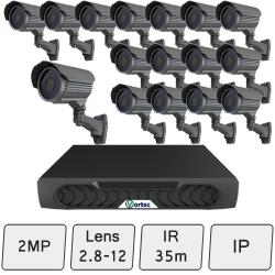 Mid-Range Security Camera System   2MP IP CCTV System