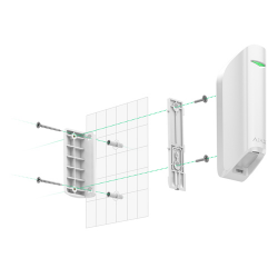 Side installation of the Ajax MotionProtect Curtain Detector