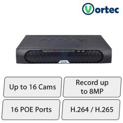 Vortec HD NVR (16Ch, Upto 8MP Cameras)