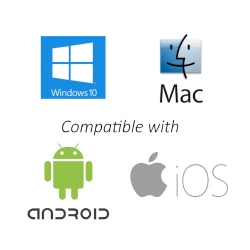 Compatible with Windows, Mac, Android and iOS devices