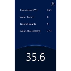 Interface of Standing Temperature Measurement Terminal