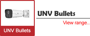 See our range of UNV (Uniview) Bullet Cameras, with special features such as video analytics and Starview chipsets
