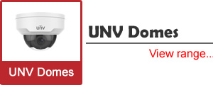 See our selection of UNV (Uniview) Vandal Resistant Dome Cameras, with IK10 ratings
