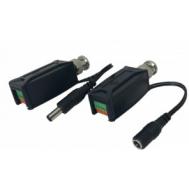 Video Balun with Power, Push Terminals (TTP-111VPK-T)