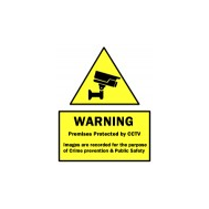CCTV Warning Sign Stickers
