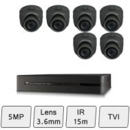 Discreet Dome Camera Kit   5MP CCTV Kit