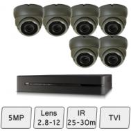 Eyeball Dome Camera Kit   5MP HD CCTV Kit