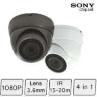 Mini Advanced Eyeball Dome Camera (4-In-1, fixed-focal, IR 15m) | CCTV Dome