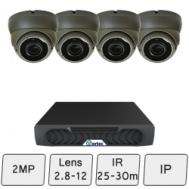 Eyeball Dome Camera Kit | IP CCTV Camera Kit
