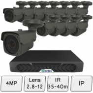 Long Range IP CCTV Security Camera Kit