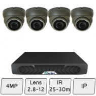 Eyeball Dome Camera Kit | IP CCTV System