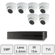 Discreet Dome Camera Kit   5MP CCTV Camera Kit