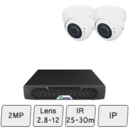 Eyeball Dome Camera Kit | 2MP IP CCTV Camera Kit