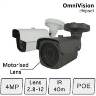IP Camera with Motorised Lens (4MP, IR 40m, POE) | IP Camera