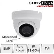 Motorised HD CCTV Dome Camera (SONY Starvis, Vari-focal Lens, 25-30m IR)Motorised 5MP Eyeball Dome Camera