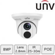 4K Turret Dome Camera (8MP, Smart, True WDR)   UNV