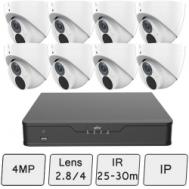 4MP Uniview Smart Turret Camera Kit