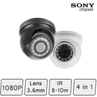 Mini Golf-ball Dome Camera (4-In-1, IR 8m)   Mini CCTV