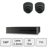 Discreet Dome Camera Kit | HD 5MP CCTV Kit