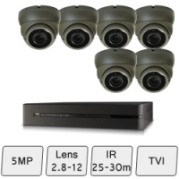 Eyeball Dome Camera Kit | 5MP HD CCTV Kit