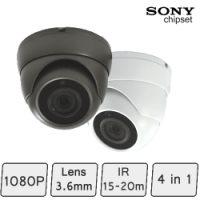 Mini Advanced Eyeball Dome Camera (4-In-1, fixed-focal, IR 15m) | CCTV Dome