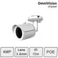HD-IP 4MP Mini Bullet Camera (4MP, IR 15m, POE)