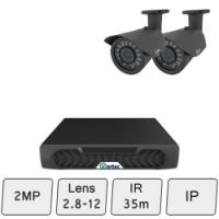 Day Night Security Camera System   2MP IP CCTV System