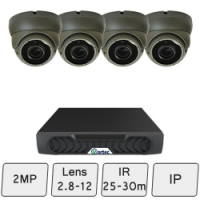 Eyeball Dome Camera Kit | IP CCTV Camera Kit