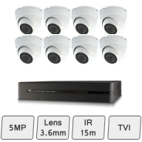 Discreet Dome Camera Kit | HD 5MP | CCTV Camera Kit