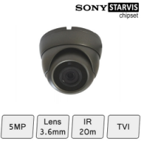 Mini Eyeball Dome Camera (HD-TVI 5MP, fixed lens, IR 15m)