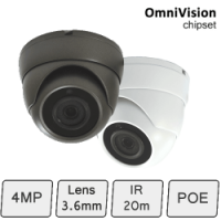 IP 4MP mini Bullet Camera (4MP, IR 15m, POE)
